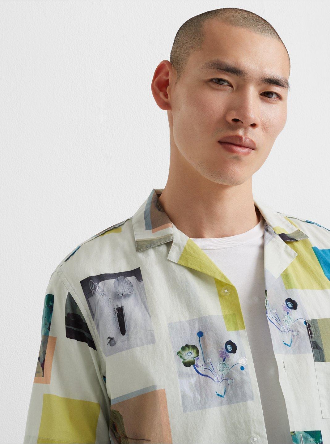 Camp Collar Photograph Shirt