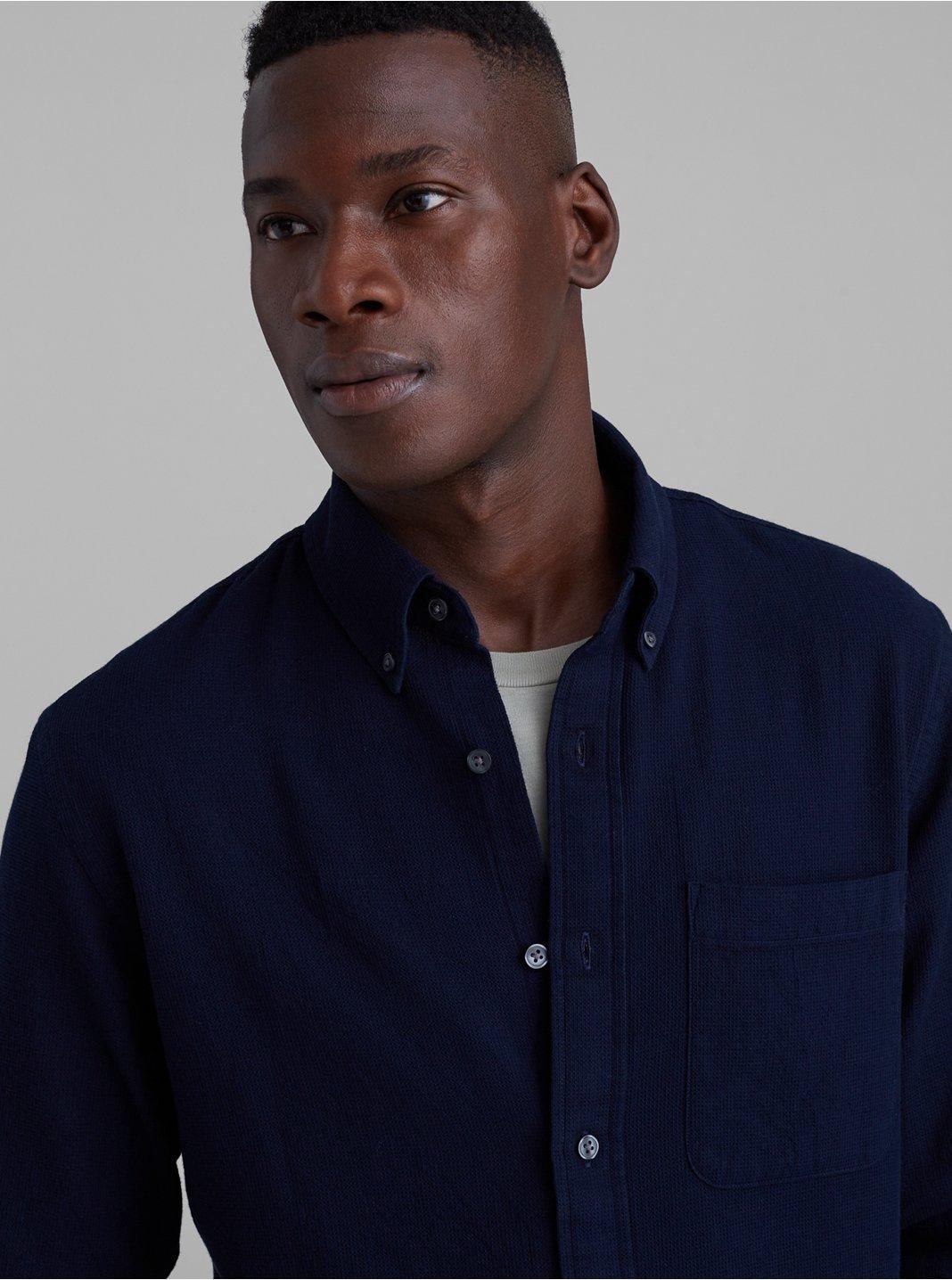 Standard Fit Waffle Knit Shirt