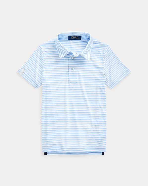 Striped Performance Golf Polo