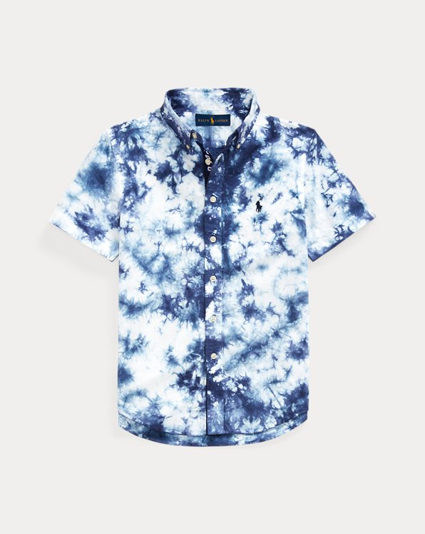 Tie-Dye Cotton Poplin Shirt