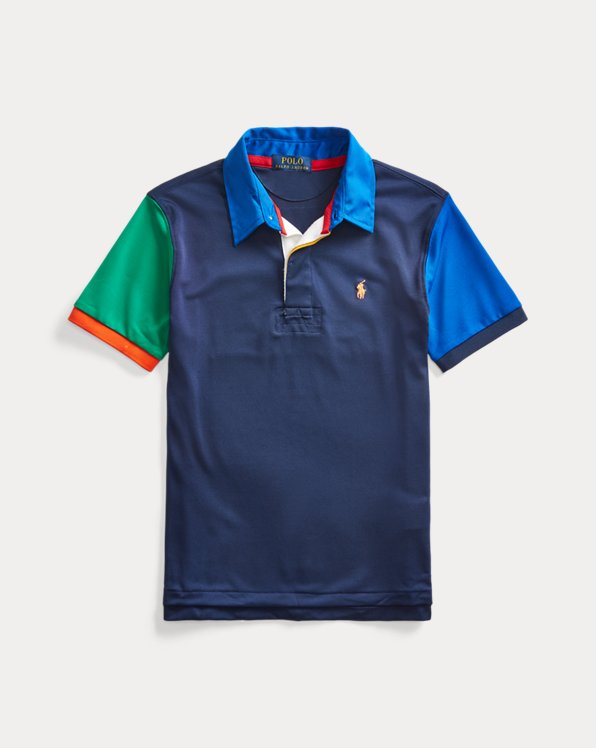 Polo en piqué stretch