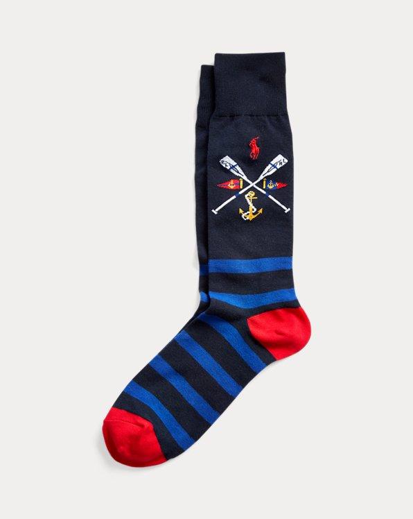 Nautical Crest Dress Socks