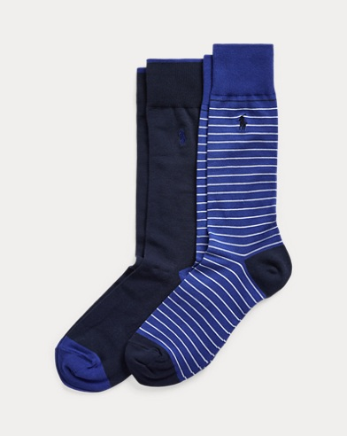 Striped & Solid Sock 2-Pack