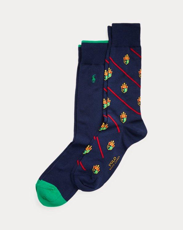 Diagonal Crest Sock 2-Pack