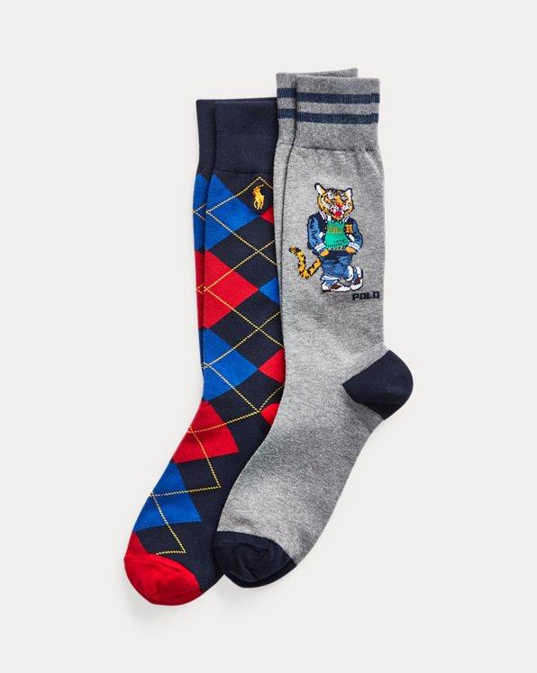 Tiger & Argyle Sock 2-Pack