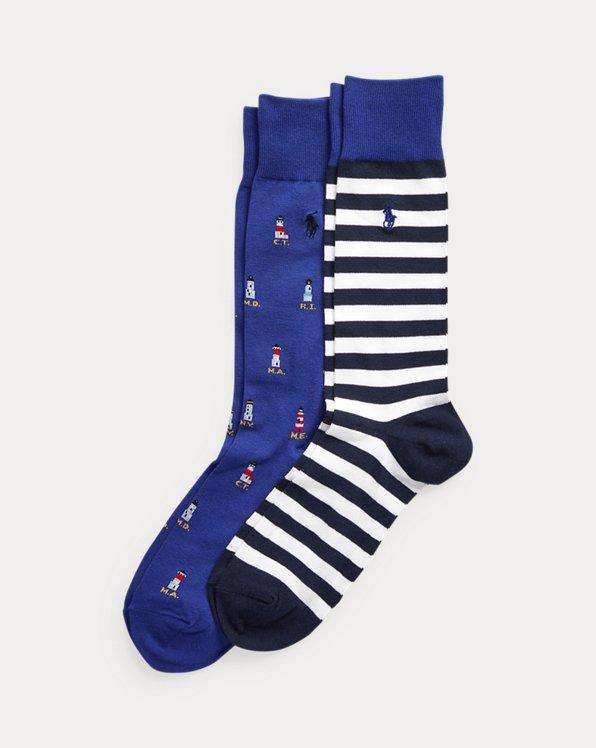 Nautical Dress Sock 2-Pack