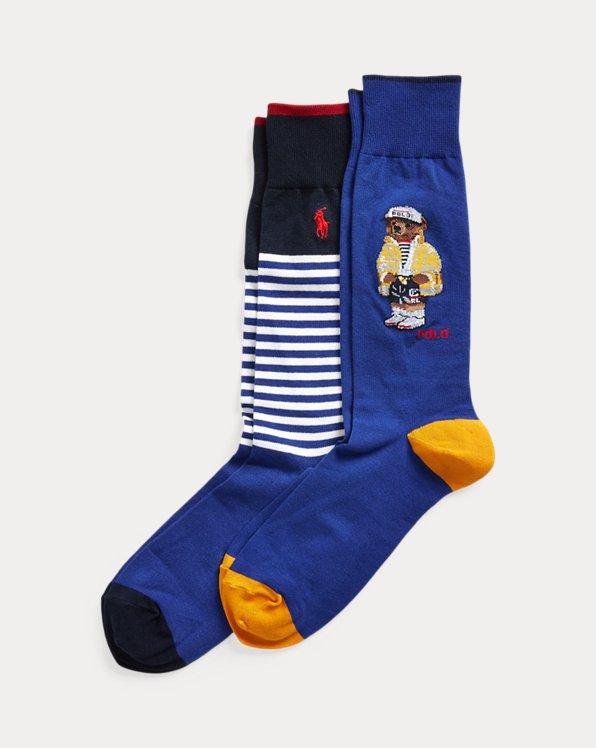 Polo Bear & Stripe Sock 2-Pack