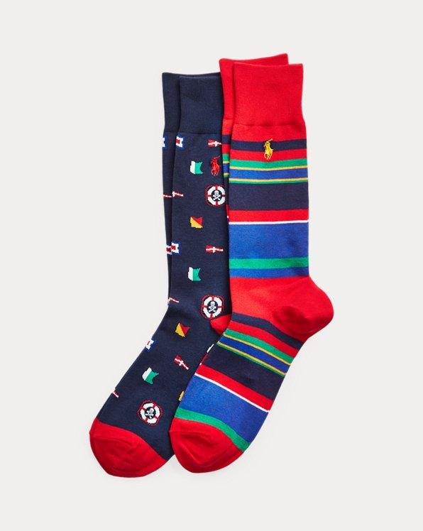 Nautical Flag Sock 2-Pack
