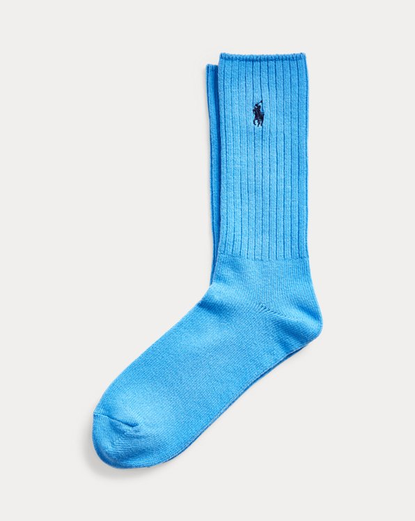 Cotton-Blend Crew Socks
