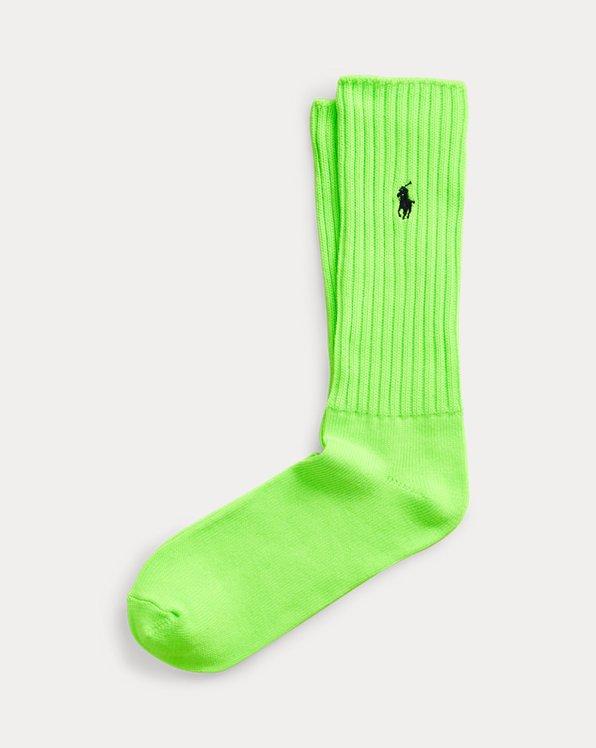 Neon Slouchy Crew Socks