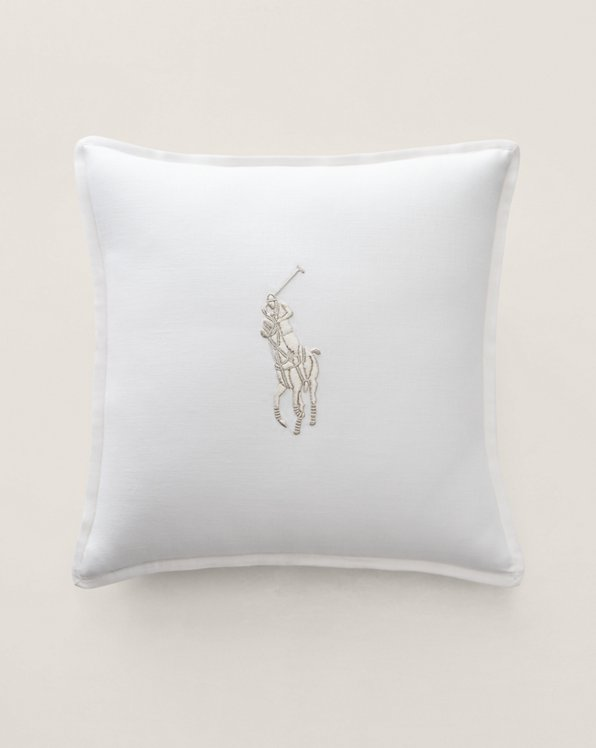Polo Player Throw Pillow