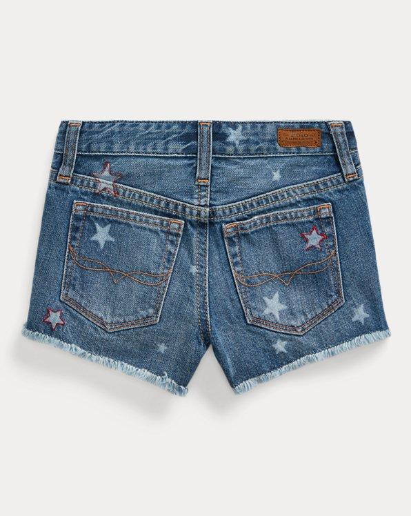 Star Cotton Denim Short