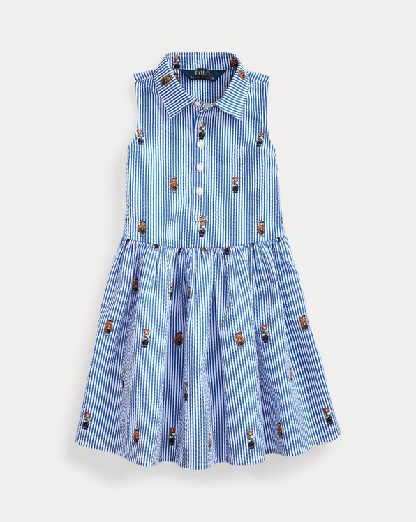 Polo Bear Cotton Shirtdress