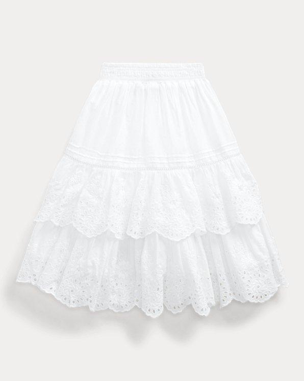 Eyelet Cotton Maxiskirt