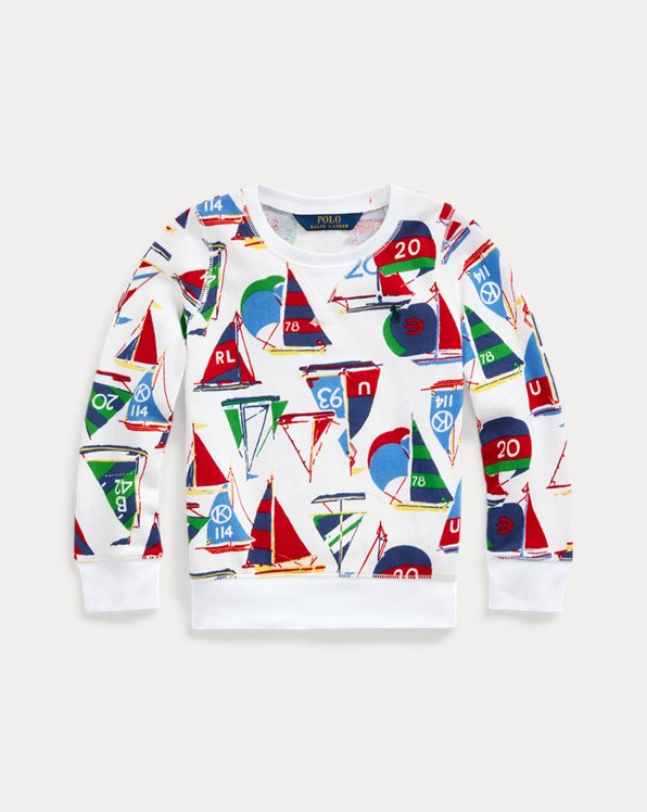Sailboat Cotton Terry Pullover
