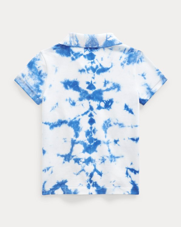 Tie-Dye Stretch Mesh Polo