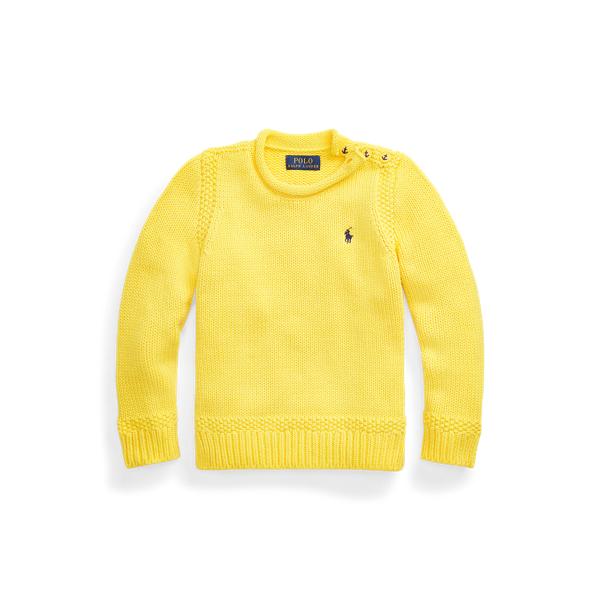 폴로 랄프로렌 Polo Ralph Lauren Cotton-Blend Rollneck Sweater,Lemon Rind