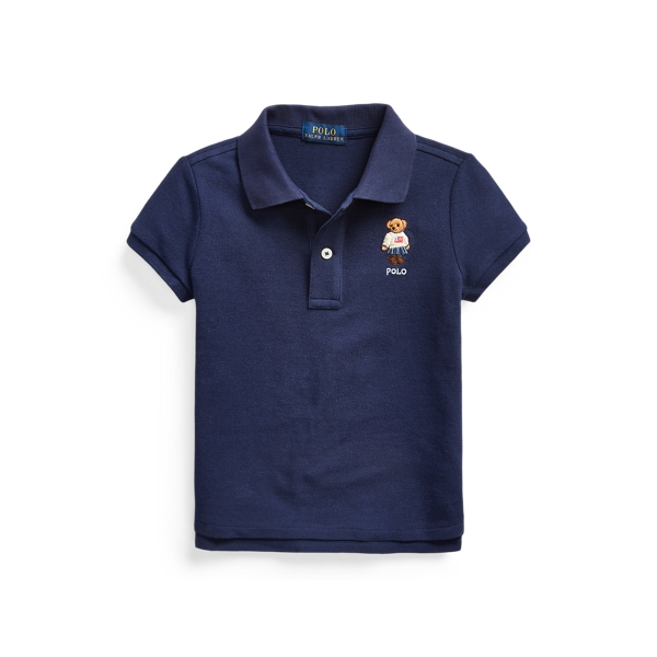폴로 랄프로렌 여아용 폴로셔츠 Polo Ralph Lauren Polo Bear Cotton Mesh Polo Shirt,Newport Navy