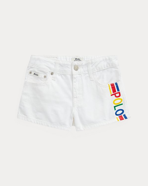 Short Polo en coton denim