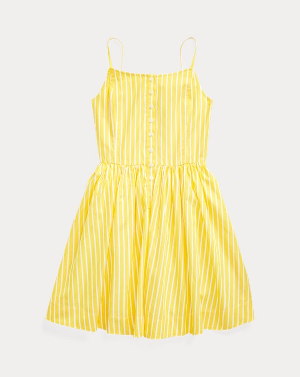 Striped Cotton Poplin Dress
