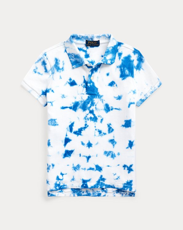 Polo en piqué stretch tie-dye