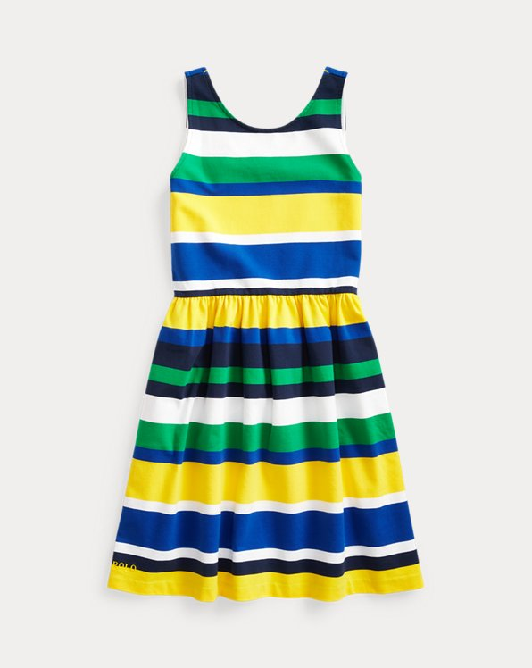 Striped Stretch Jersey Dress