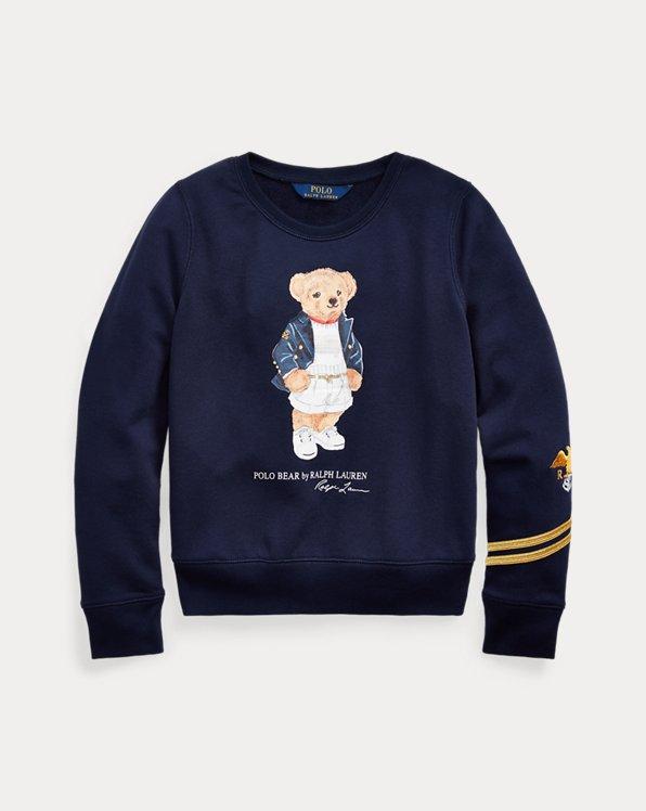 Terry-Pullover mit Blazer Bear