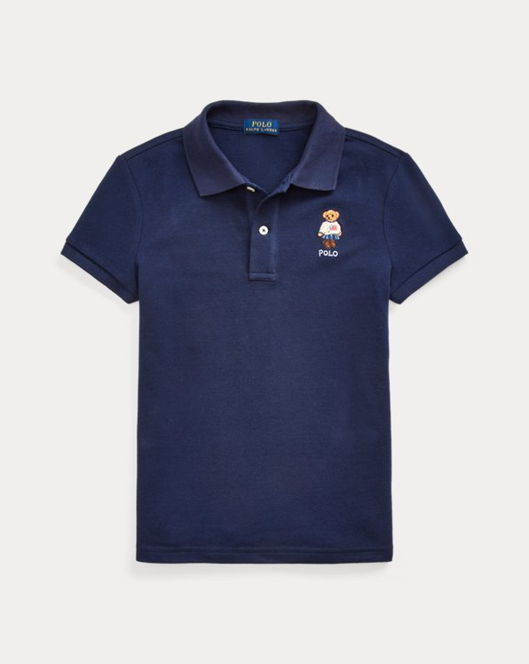 Polo Ralph Lauren Boys Polo Shirt Big Pony Flag 4//4T