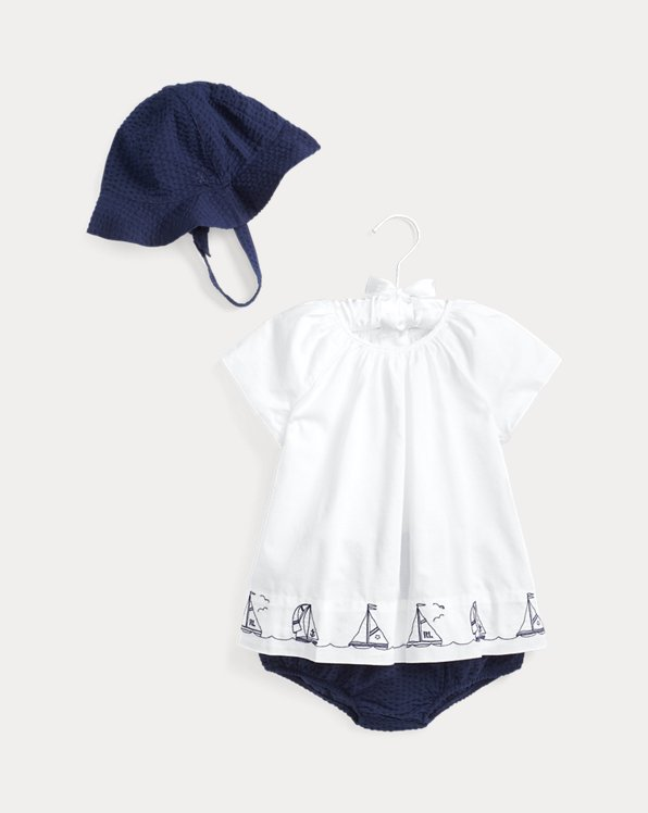 Nautical Hat, Top & Short Set