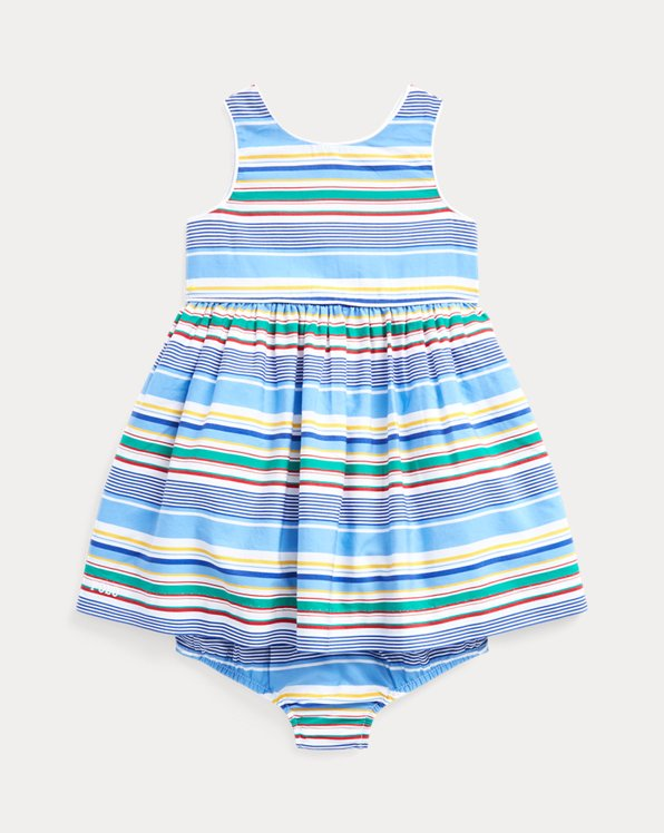 Striped Poplin Dress & Bloomer