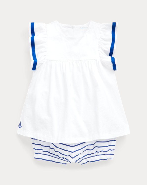Top & Striped Bloomer Set