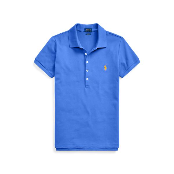 폴로 랄프로렌 Polo Ralph Lauren Slim Fit Stretch Polo Shirt,New Iris Blue/C2427