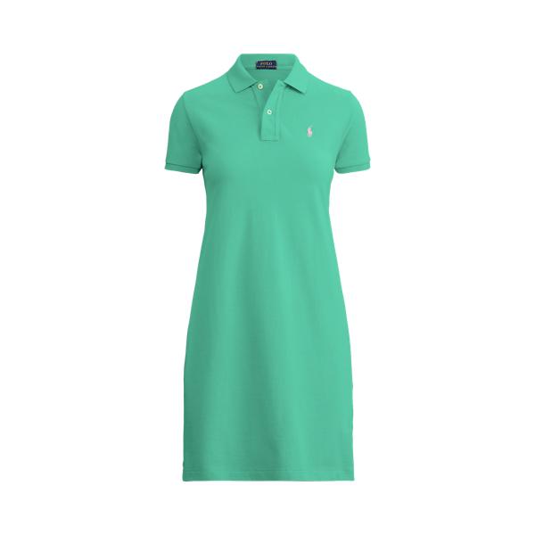 폴로 랄프로렌 Polo Ralph Lauren Cotton Mesh Polo Dress,Sunset Green
