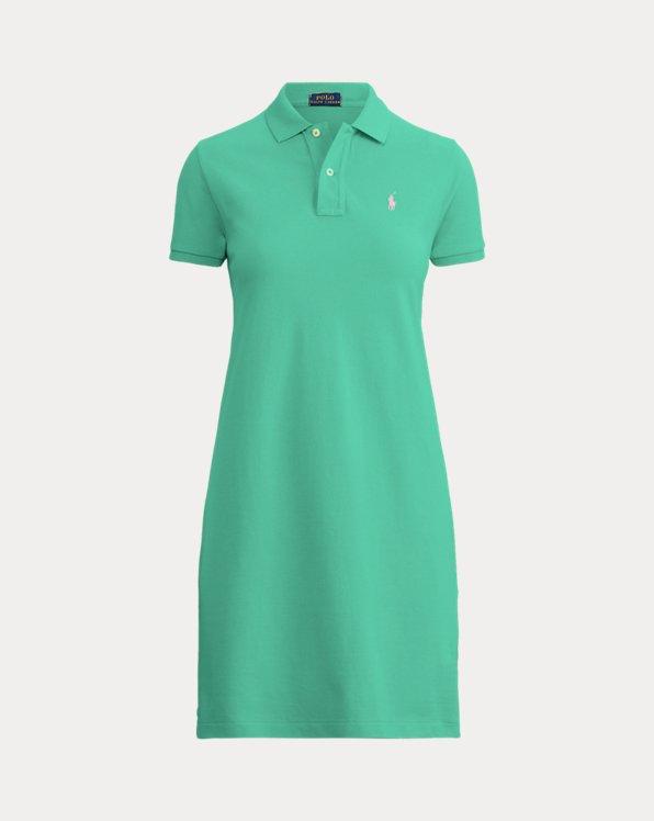 Cotton Mesh Polo Dress
