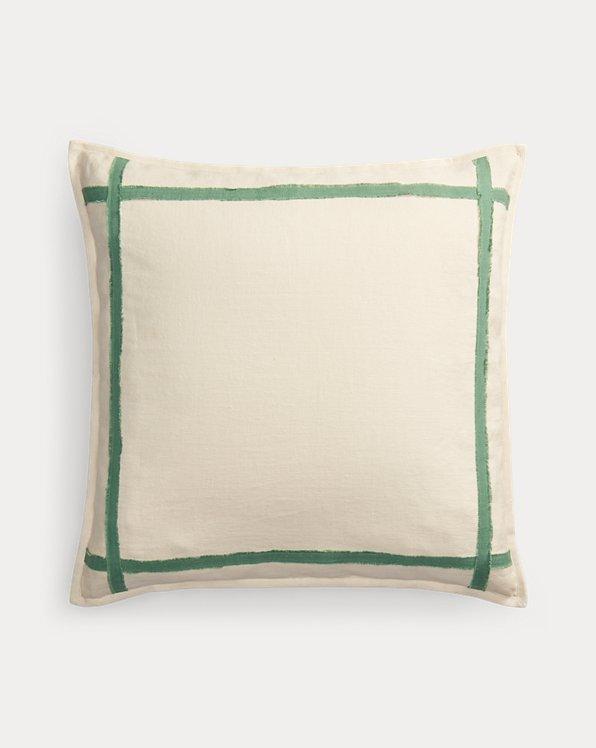 Quadratischer Kissenbezug Allie mit Kontrastkante