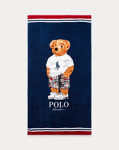 Madras Bear Beach Towel