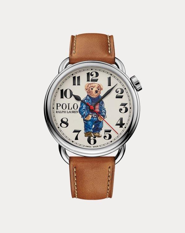 42 MM Denim Flag Polo Bear Watch