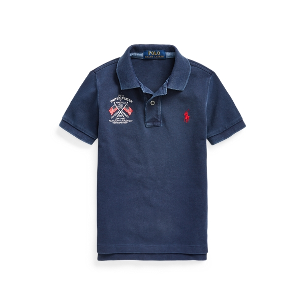 폴로 랄프로렌 남아용 폴로 셔츠 Polo Ralph Lauren Americana Cotton Mesh Polo,Cruise Navy