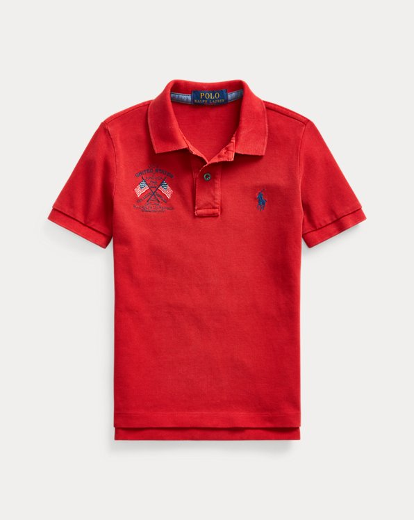 Americana Cotton Mesh Polo