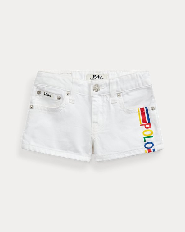 Short Polo in denim di cotone