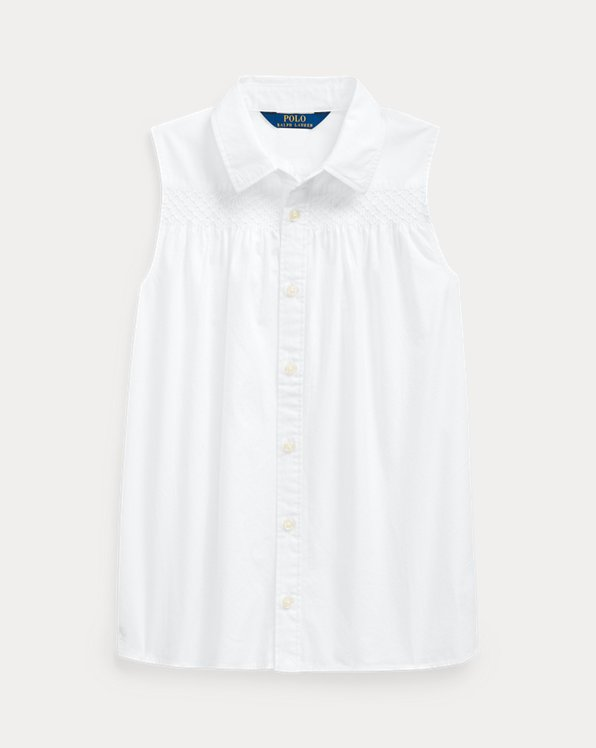 Smocked Cotton Shirt