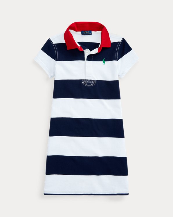 Rugby-Stripe Cotton Dress