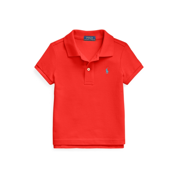 폴로 랄프로렌 여아용 폴로셔츠 Polo Ralph Lauren Cotton Mesh Polo Shirt,African Red