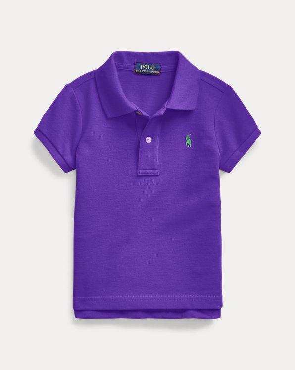 Girls' Polo Shirts: Long & Short Sleeve Polo Shirts - Purple ...
