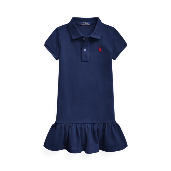 폴로 랄프로렌 여아용 원피스 Polo Ralph Lauren Cotton Mesh Polo Dress,Newport Navy