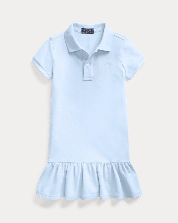 폴로 랄프로렌 여아용 원피스 Polo Ralph Lauren Cotton Mesh Polo Dress,Elite Blue