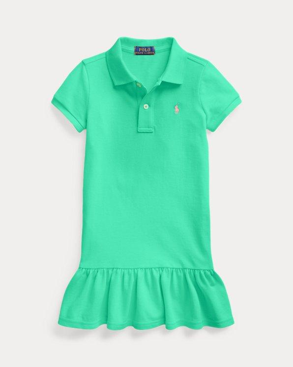 폴로 랄프로렌 여아용 원피스 Polo Ralph Lauren Cotton Mesh Polo Dress,Sunset Green