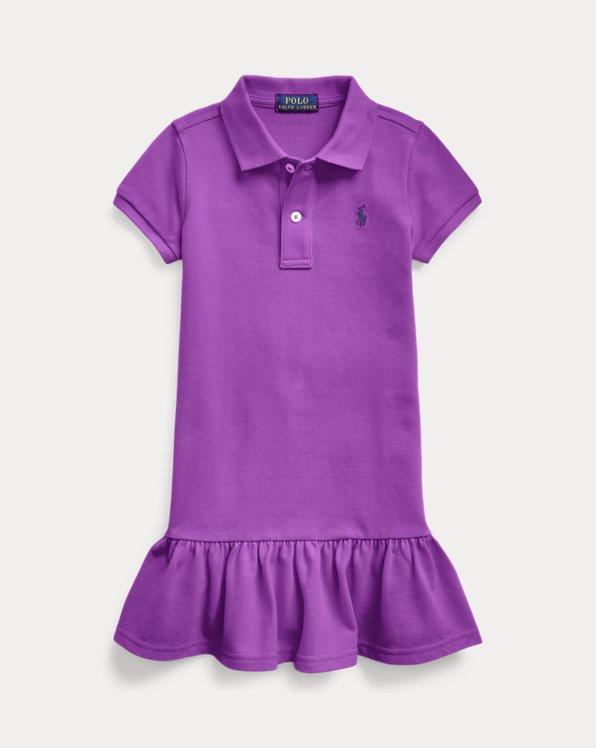 폴로 랄프로렌 여아용 원피스 Polo Ralph Lauren Cotton Mesh Polo Dress,Paloma Purple