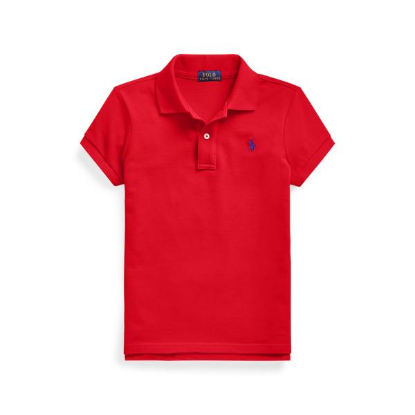 폴로 랄프로렌 걸즈 폴로티 Polo Ralph Lauren Cotton Mesh Polo Shirt,RL 2000 Red