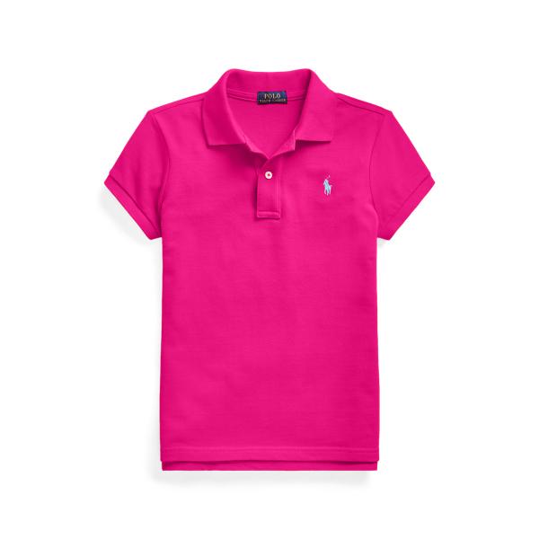 폴로 랄프로렌 걸즈 폴로티 Polo Ralph Lauren Cotton Mesh Polo Shirt,Aruba Pink